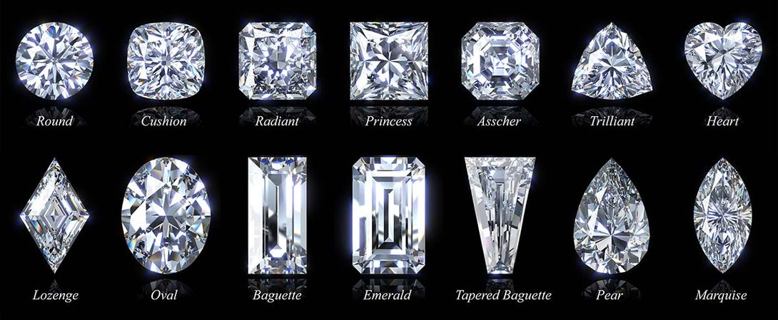 different diamond shapes with title